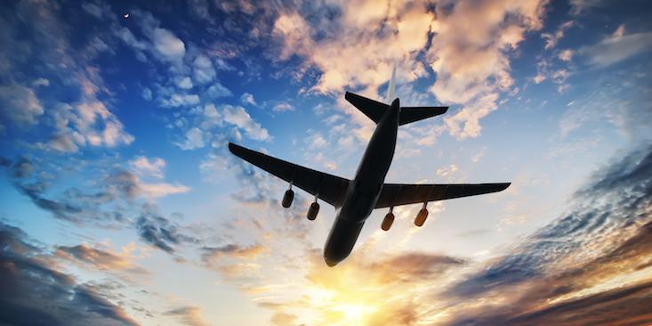 airplane-flying-sky-sunset